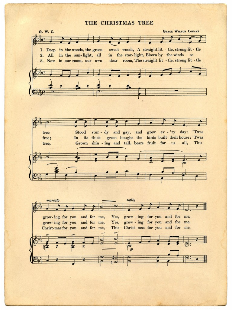 Vintage Christmas Sheet Music Printable