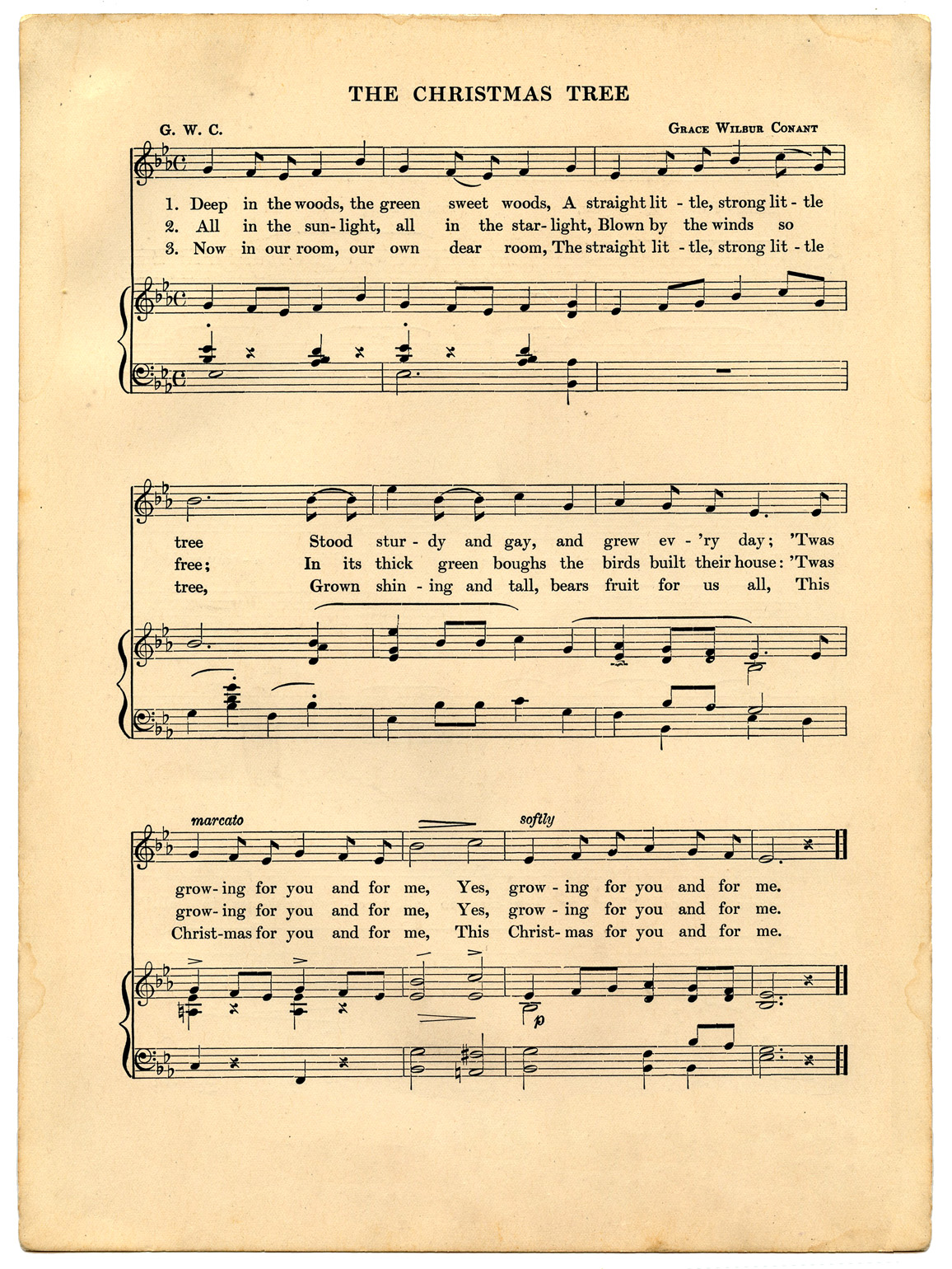 printable free sheet vintage music christmas