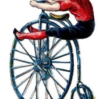 Vintage Graphic – Circus Acrobat on Velocipede