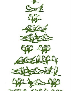 Vintage Christmas Clip Art – Bird Tree