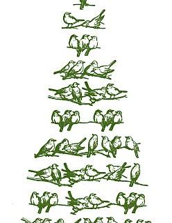 Vintage Christmas Clip Art – Bird Tree