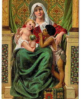 Vintage Christmas Clip Art – Madonna and Children