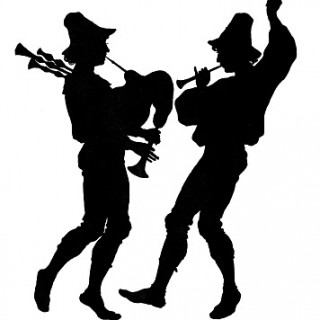 Vintage Clip Art – Pipers – Silhouette