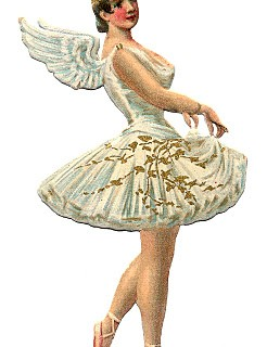Vintage Graphic – Ballerina with Angel Wings