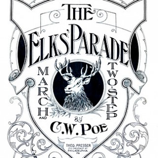 Vintage Clip Art – Fabulous Sheet Music Cover – Elk