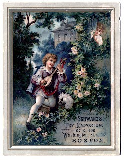 Antique Christmas Graphics - Musical Advertising