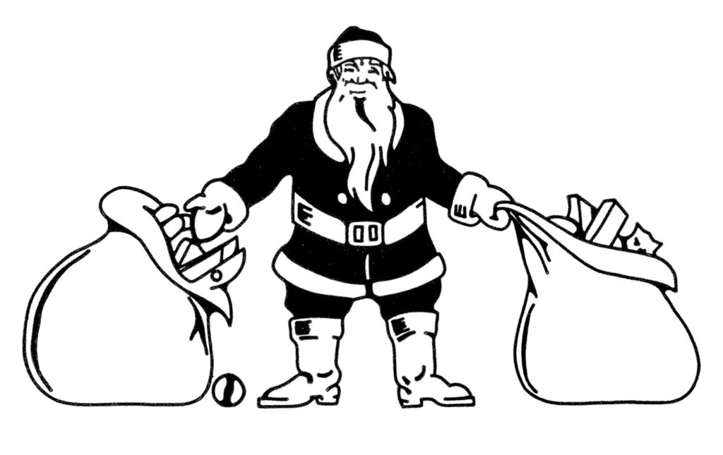Santa with Sacks Image