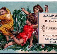 Vintage Christmas Gift Tags - Cherubs