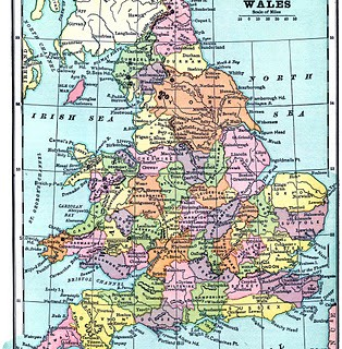 Vintage Printable – Map of England and Wales