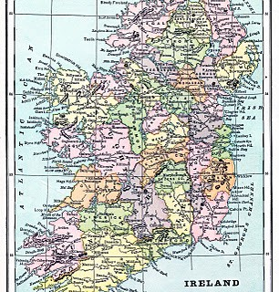 Instant Art Printable – Map of Ireland