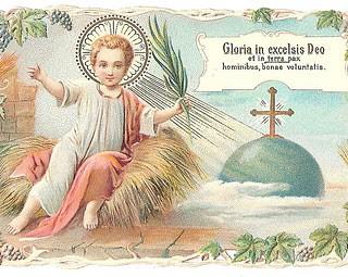 Vintage Christmas Image – Baby Jesus in Manger