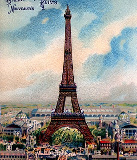 Vintage Graphic – Gorgeous Colorful Eiffel Tower