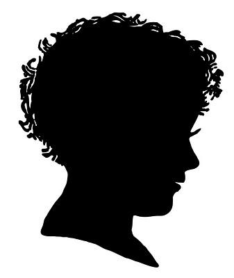 Vintage Clip Art Silhouette Boy Amp Girl The Graphics Fairy