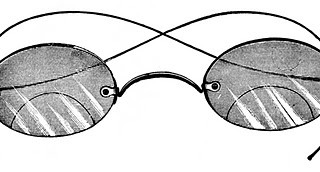 Vintage Clip Art – Old Fashioned Spectacles – Steampunk