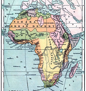 Instant Art Printable – Vintage Map of Africa