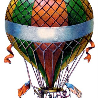 Antique Graphic – Hot Air Balloon – Steampunk