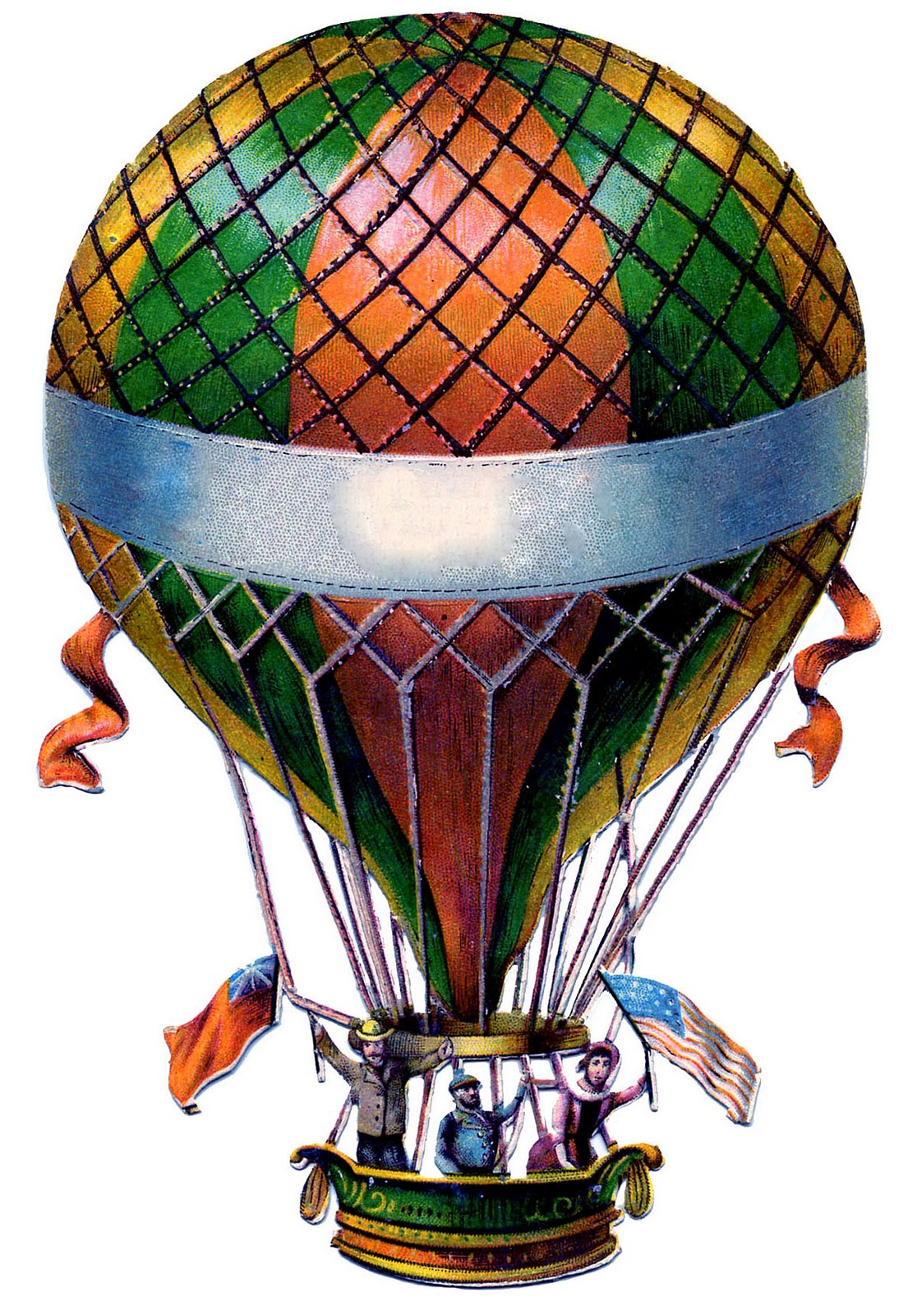Antique Graphic - Hot Air Balloon - Steampunk - The ...