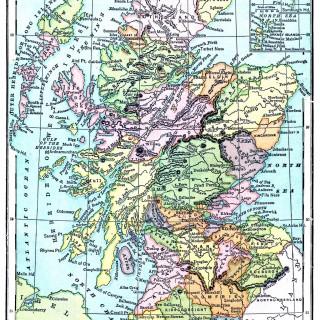 Instant Art Printable – Map of Scotland