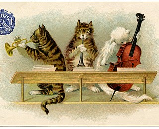 Vintage Graphic – Musical Cats