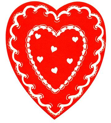 Vintage Valentine's Clip Art - Classic Red and White Heart ...