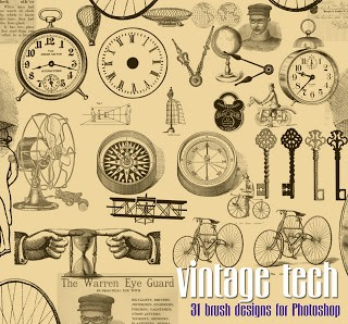 Vintage Download – Steampunk Brushes for Photoshop