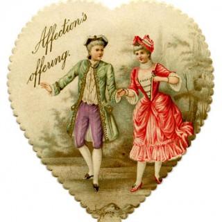 Vintage Valentine Printable – Heart Garland with Cupids