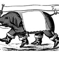 Vintage Clip Art - Quirky Elephant Label