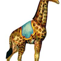 Giraffe, Circus, Graphic