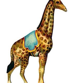 Vintage Graphic – Circus Giraffe