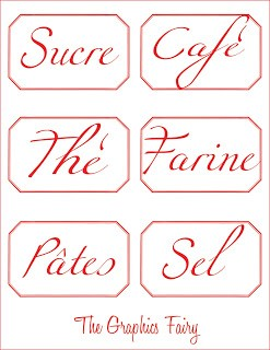 French Printable – Canister Labels