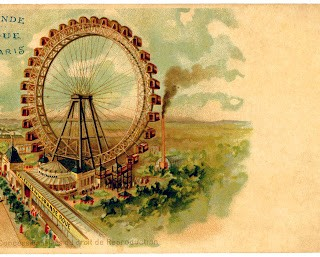 Vintage Graphic – Paris Ferris Wheel