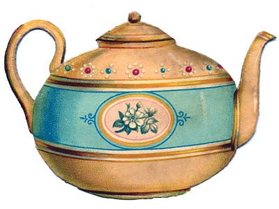 Victorian Graphic Cute Teapot The Graphics Fairy