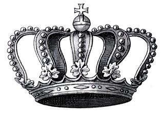 Transfer Printable – Vintage Crown with Cross