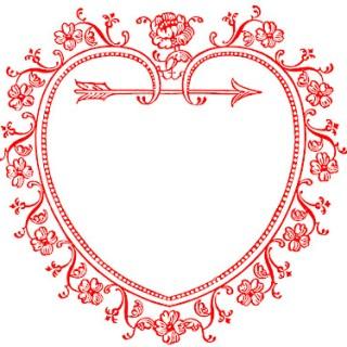 Vintage Valentine's Day Clip Art – Sweetest Heart Frame