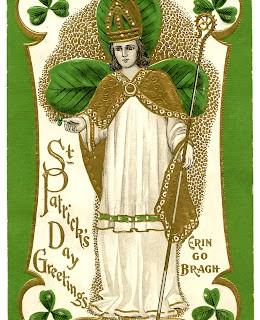 Vintage St Patrick's Day Clip Art – St. Pat