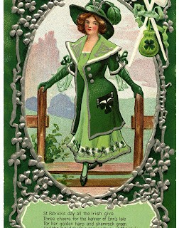 Vintage St Patrick's Day Graphic – Irish Woman