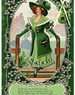 Vintage St Patrick's Day Graphic – Irish Woman