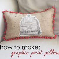 Make Graphic Print PIllow