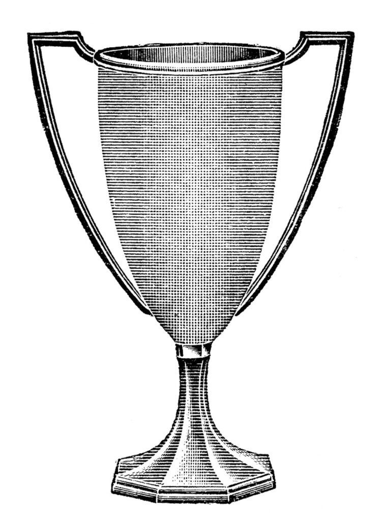 Black and White Trophy Clipart