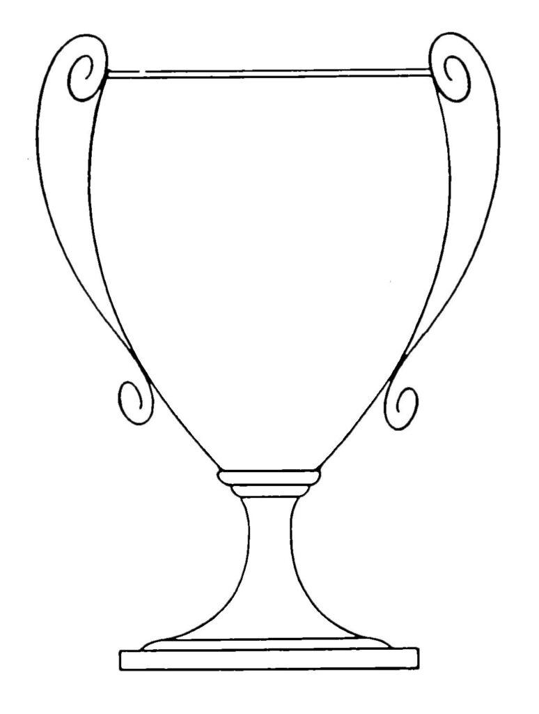 Trophy Loving Cup Line Art Plain