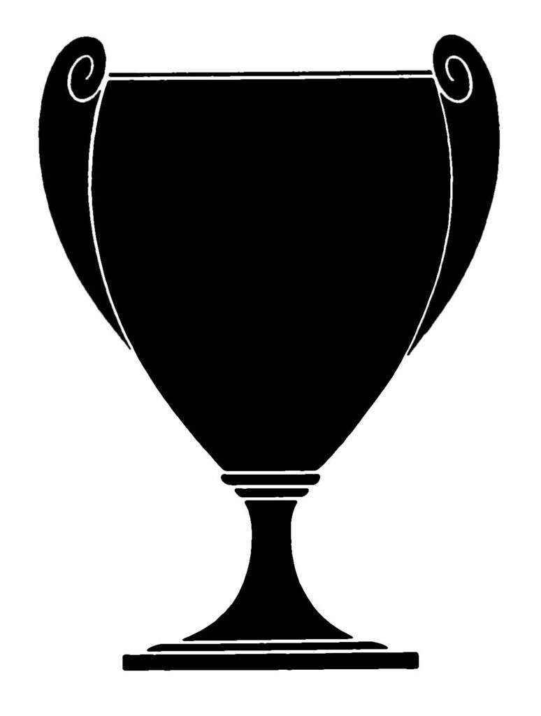 Silhouette of Vintage Trophy Loving Cup