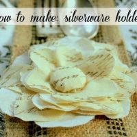 Make Silverware Sleeve Holder