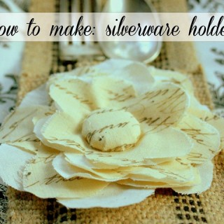 Make Silverware Sleeve Holder