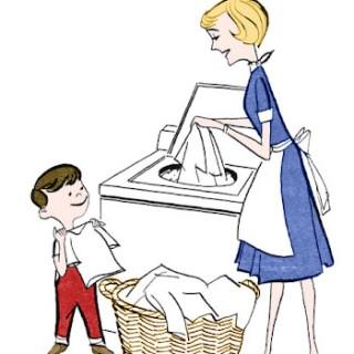 Retro Clip Art – Laundry Day
