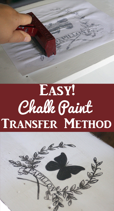 Chalk Paint Transfer Method