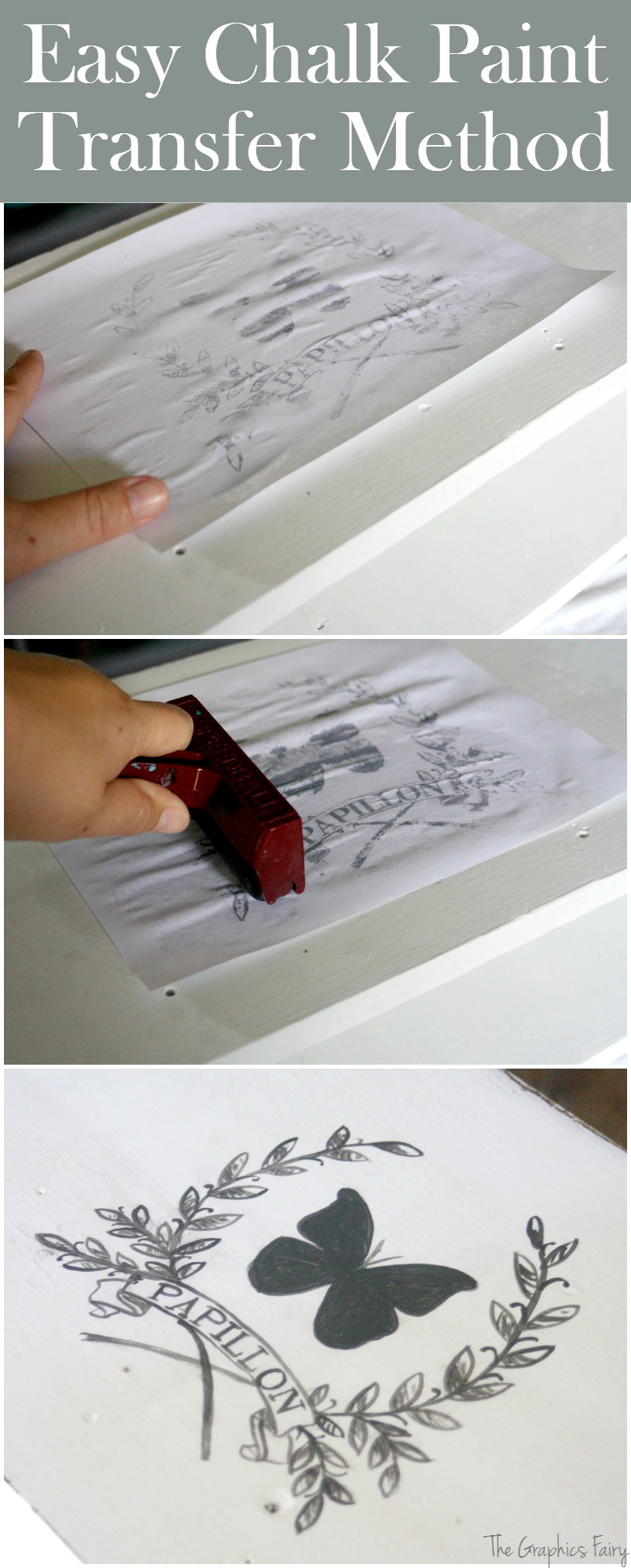 Furniture Transfers For Chalk Paint!