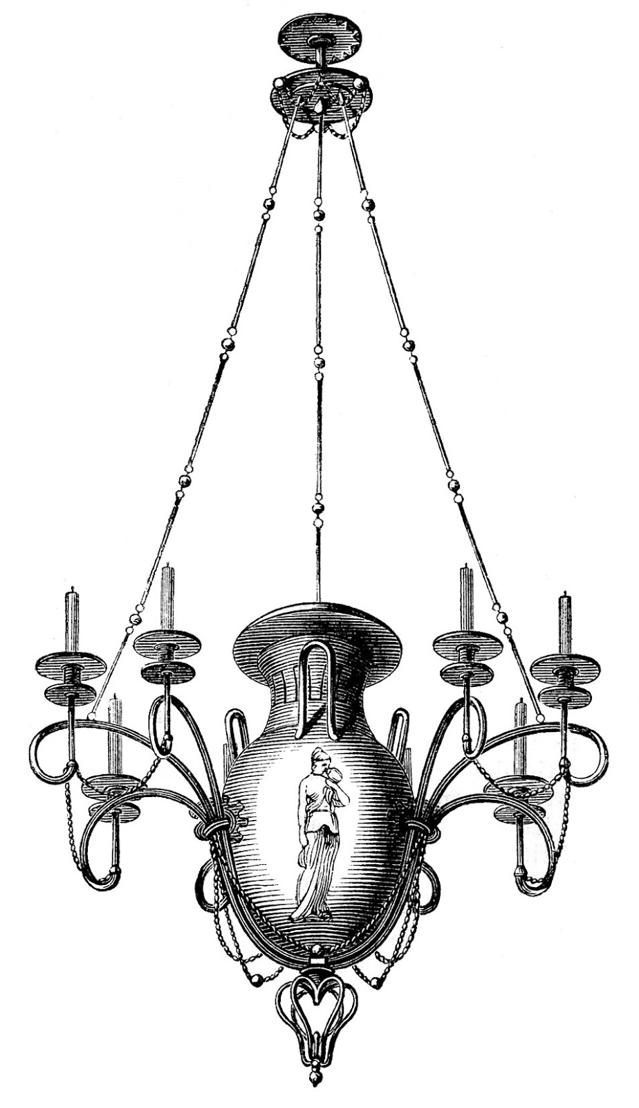 Antique images 3 chandeliers 1 spooky the graphics fairy antique images 3 chandeliers 1 spooky aloadofball Images