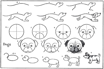 Diagram of how to draw Dogs