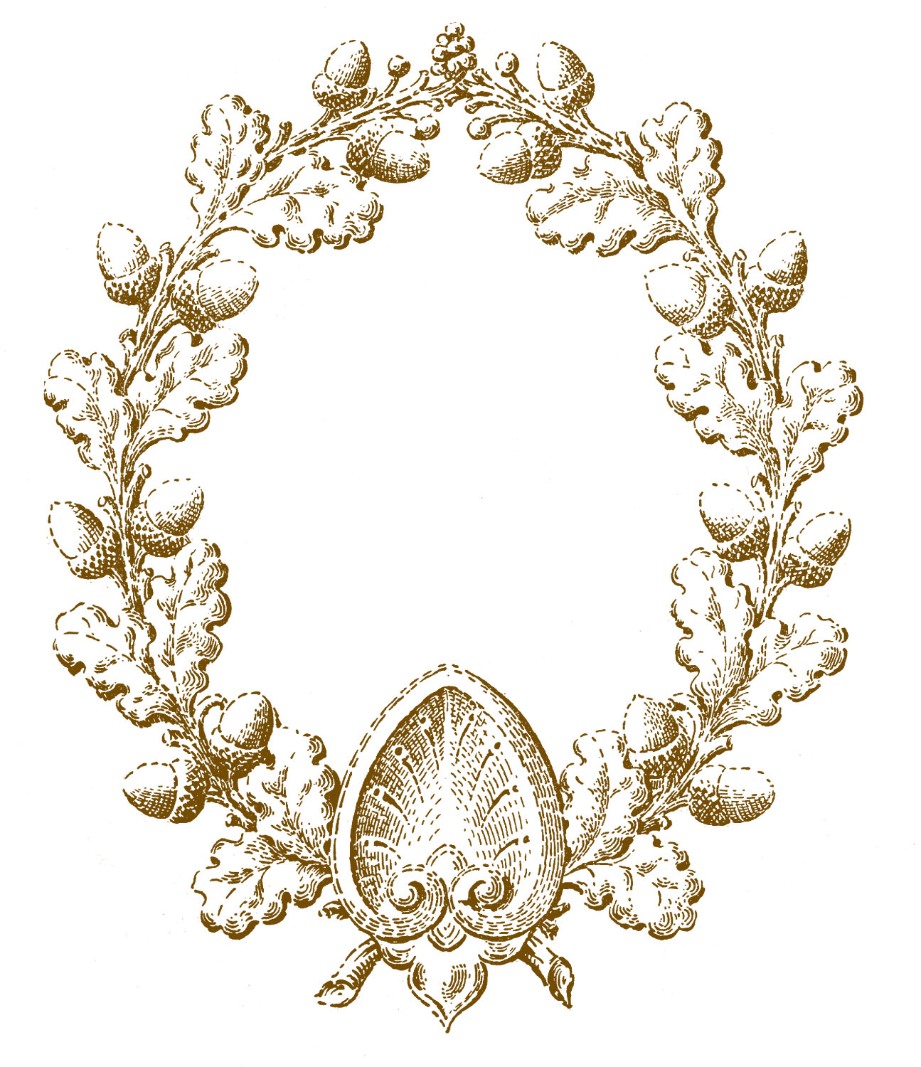 Oak Leaf and Acorn Wreath Image