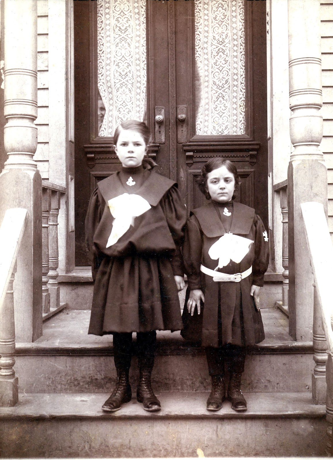 Halloween Printable Old Photo Young Witches The